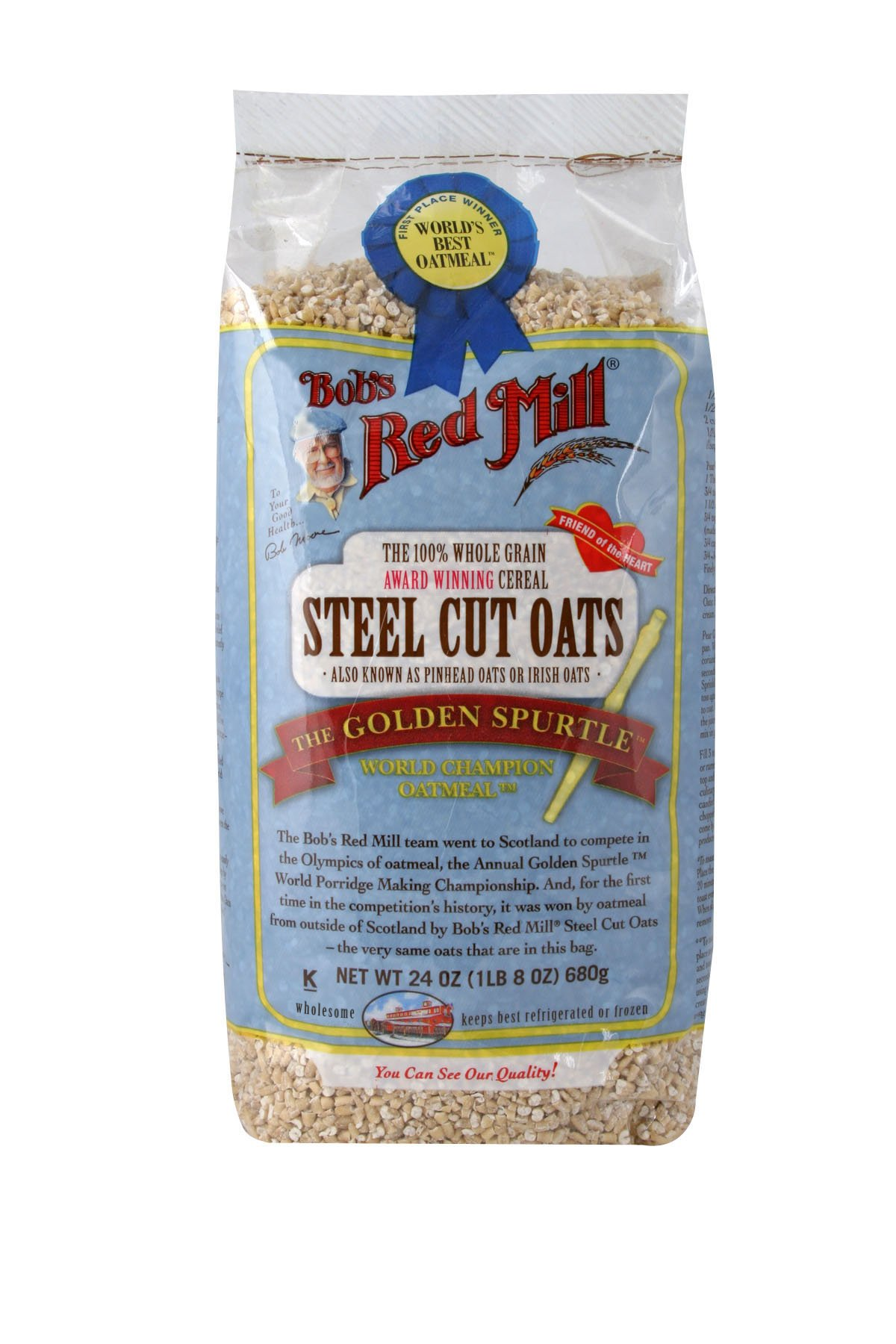 Bob's Red Mill Steel Cut Oats, 24-ounce (Pack of 4)