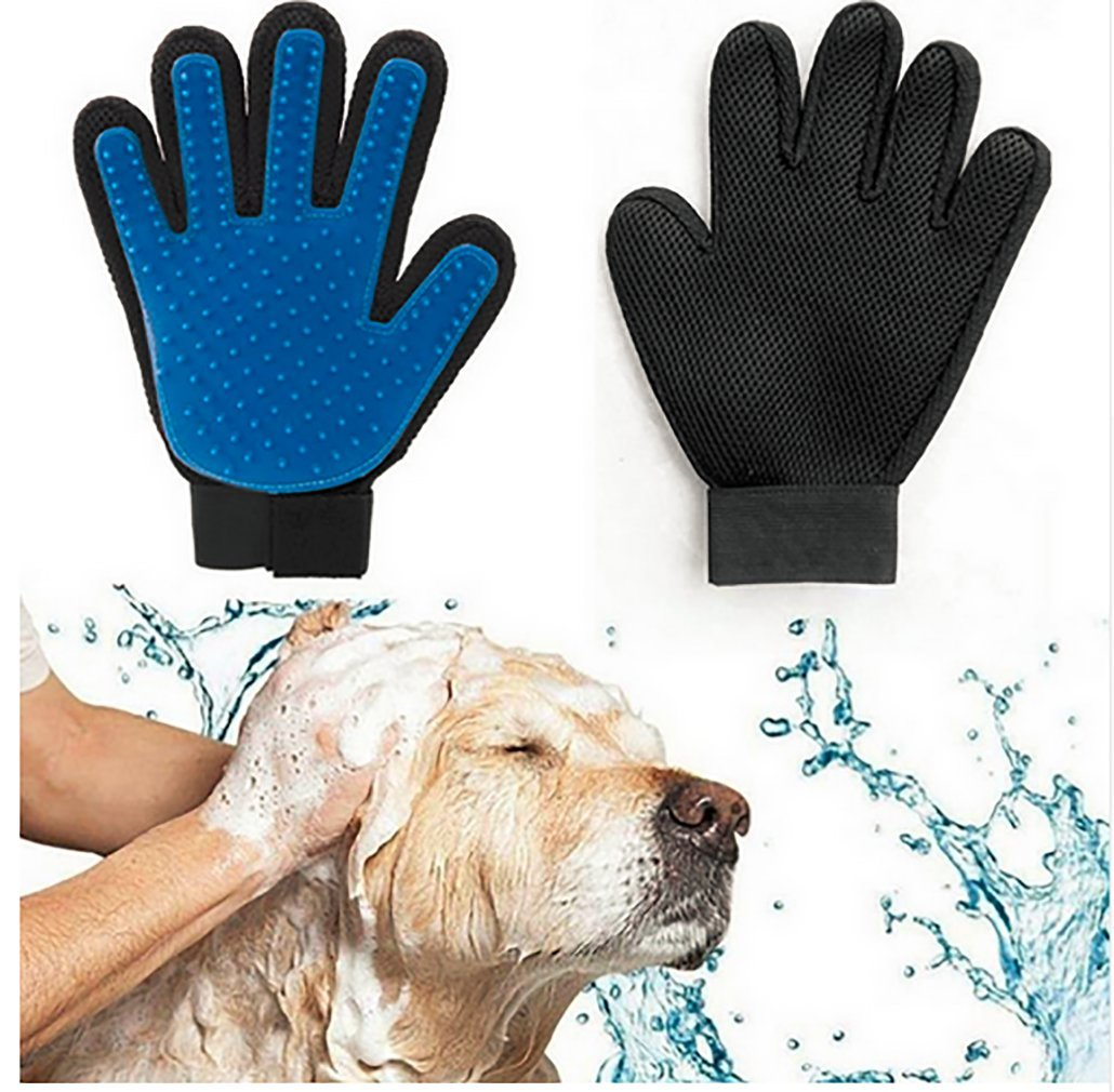 Pet Grooming Glove Brush - Gentle Deshedding Brush Glove- Efficient Pet Hair Remover Mitt -Gentle Massage Tool for Dogs Cats Kittens Puppy Horses (one Right Hand) Lbsel Direct