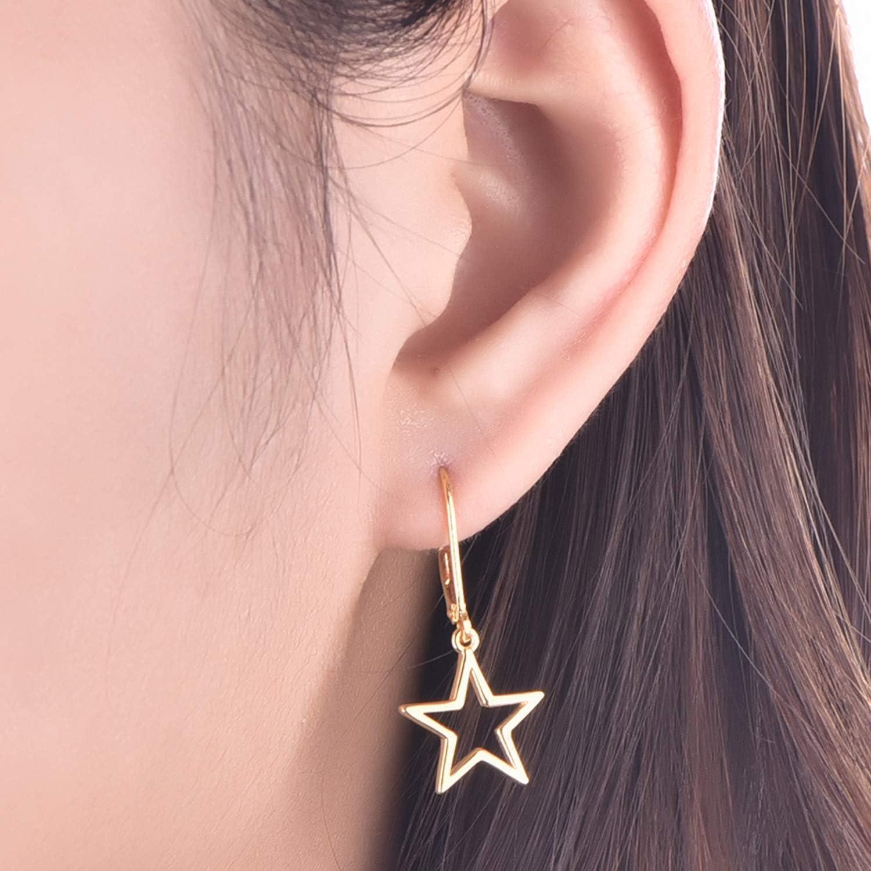 JO WISDOM Boucles doreilles /étoiles Argent 925 pour Femme Fille
