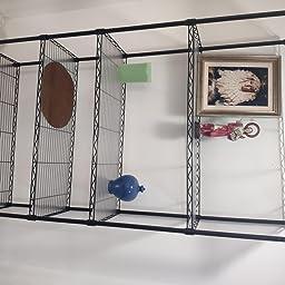Homfa Estantería Metálica Estantería Almacenaje con Ruedas de 5 Estantes con Baldas Ajustables para Baño Cocina Dormitorio Salón Negro 184x89x34cm: Amazon.es: Hogar