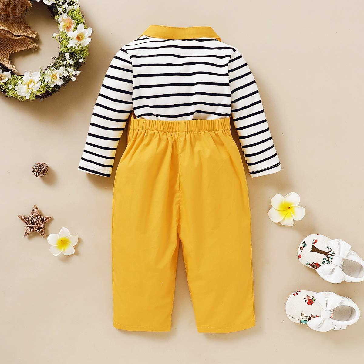Aisheny Niño Bebé Niña Jengibre Amarillo Tirantes Pantalones ...