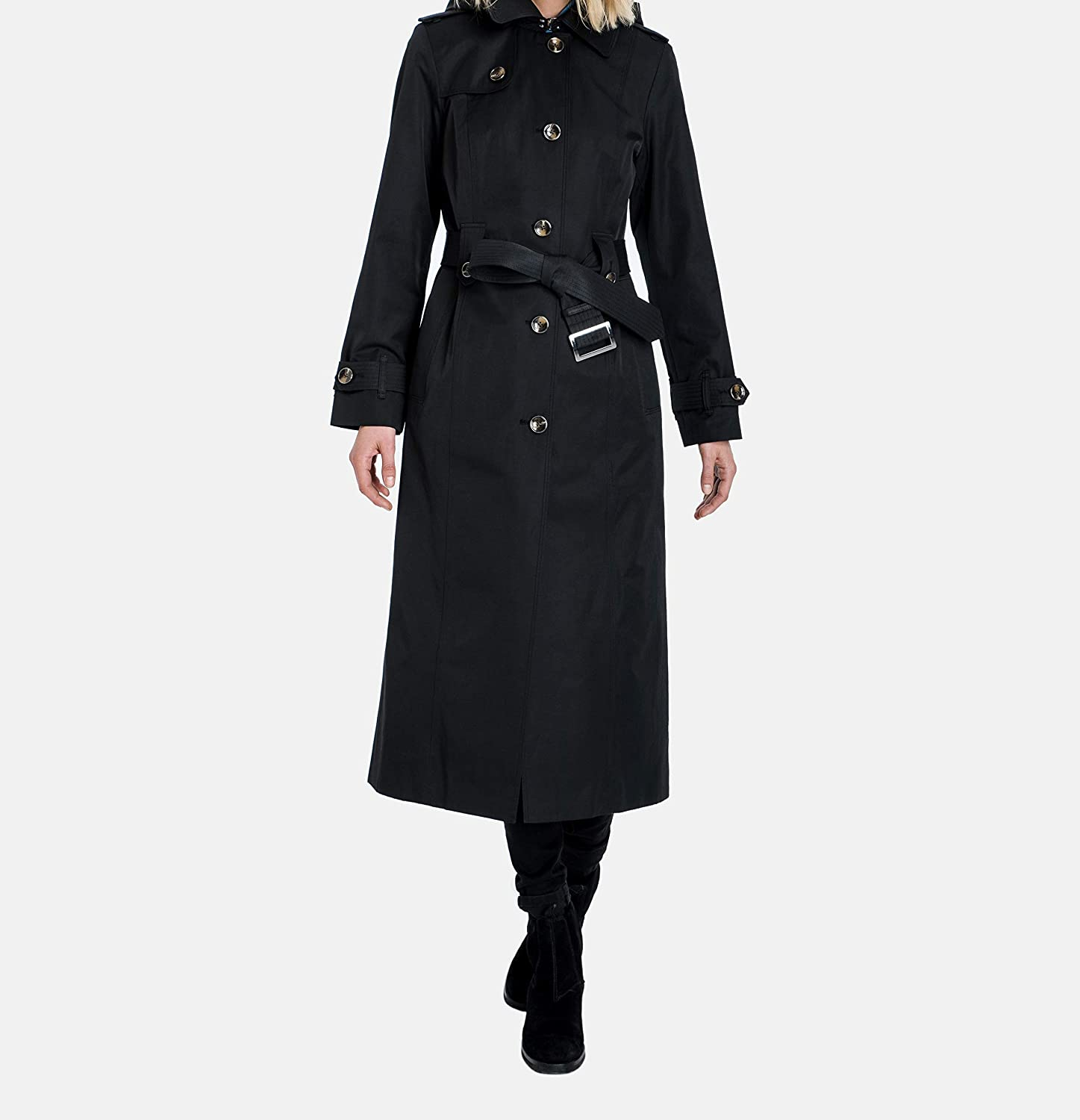 011f37657 London Fog Women's Single-Breasted Trench Coat with Belt