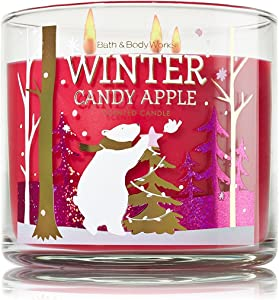 Bath and Body Works Winter Candy Apple 3 Wick Scented Candle