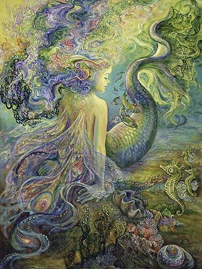 Amazon.com: Great Art Now Mer Fairy by Josephine Wall Art Print, 9 x ...