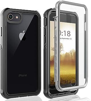 Coque iPhone 8, Coque iPhone 7, Coque iPhone SE 2020, Coque iPhone 6s Antichoc Transparente 360 Degres Protection [avec Protection écran] Etui Bumper ...
