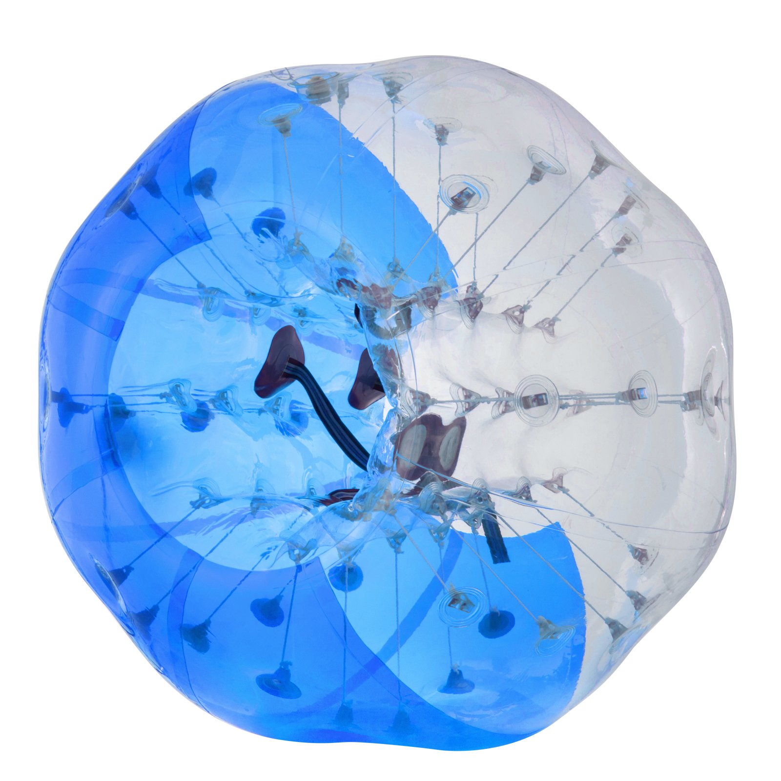 Happybuy Inflatable Bumper Ball 1.2M/4ft 1.5M/5ft Diameter Bubble Soccer Ball Blow Up Toy in 5 Min Inflatable Bumper Bubble Balls for Adults or Child (Half Blue, 5ft) by Happybuy (Image #2)