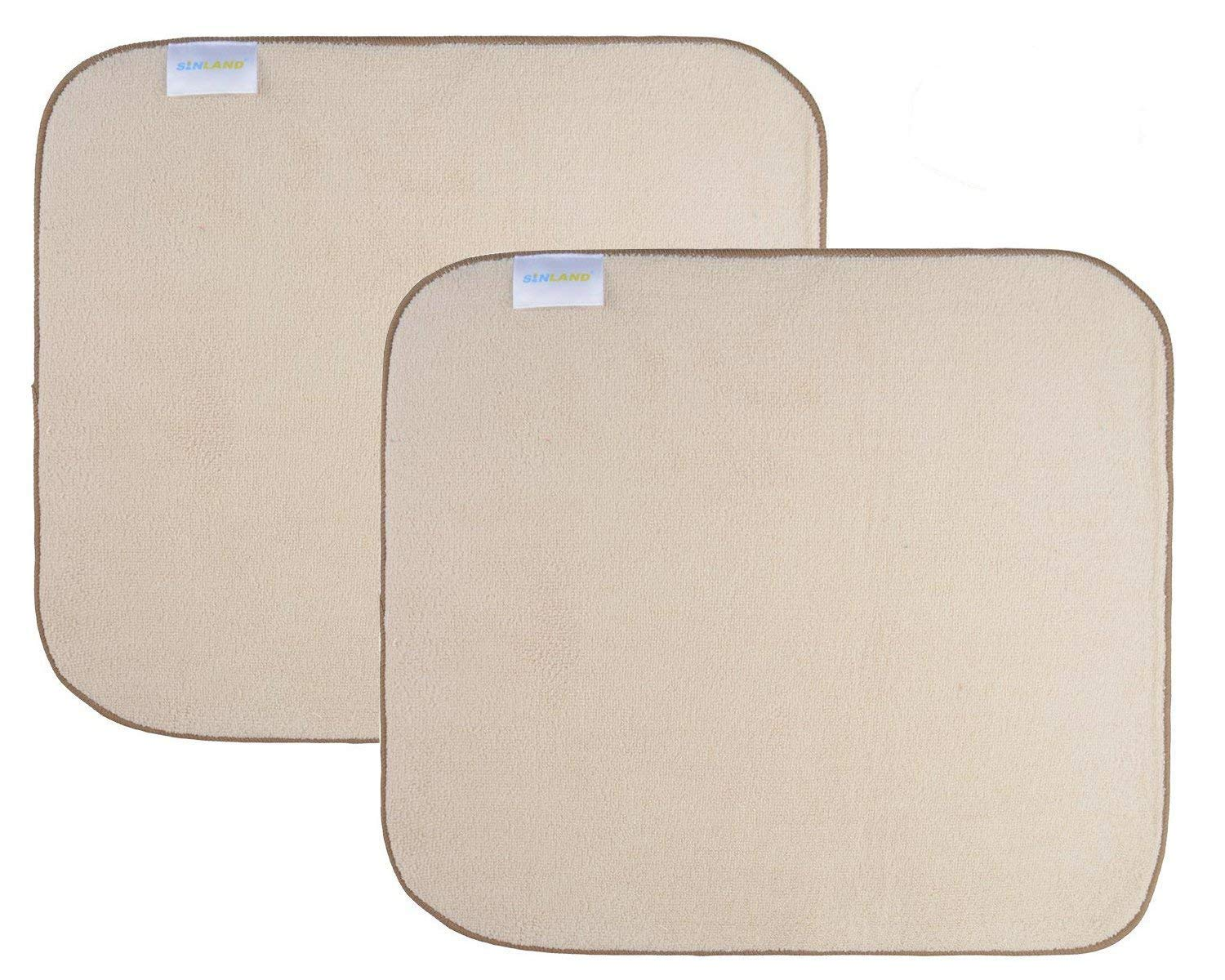 Sinland Microfiber Dish Drying Mats Super Absorbent 16x18 ( Basic Style Cream) COMINHKPR72222