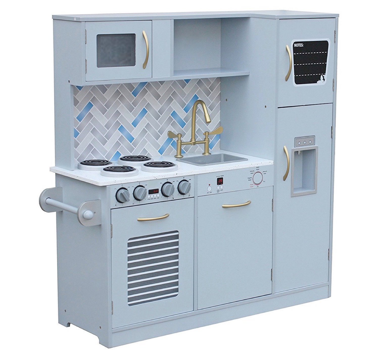 Amazon.com: Pidoko Kids Toy Play Kitchen Set, Grey (Gray) - Limited ...
