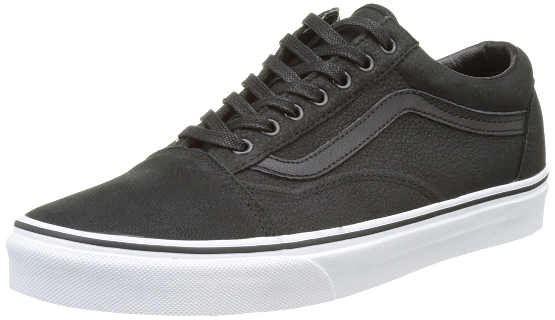 Vans Unisex Old Skool Classic Skate Shoes B01LYVW92C 8 M US Women / 6.5 M US Men|Black/True White