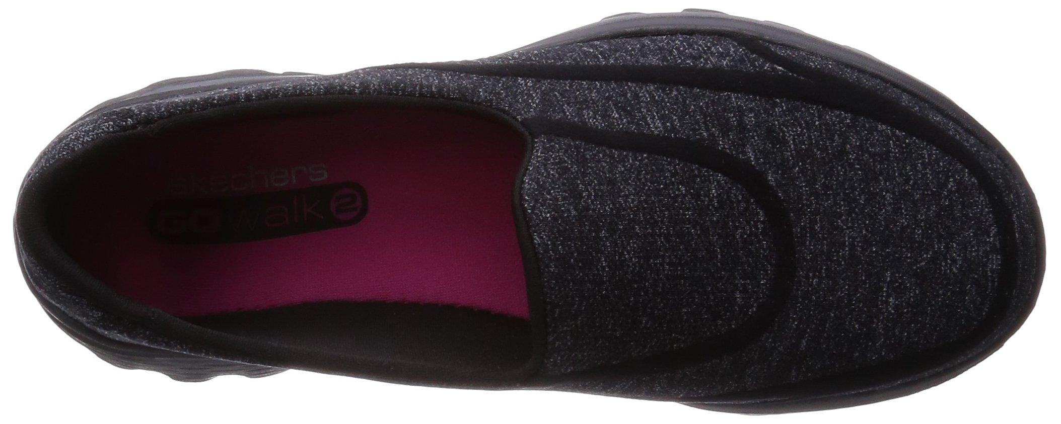 Skechers Performance Women's Go Walk 2 Super Sock Slip-On Walking Shoe,Old Black,7.5 M US by Skechers (Image #7)