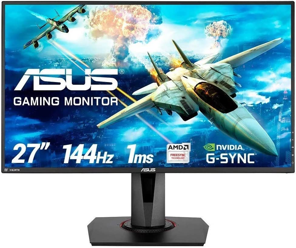 "Asus VG278Q - Monitor Gaming de 27"" FHD (1920x1080, TN, 16:9, HDMI 1.4, DisplayPort 1.2, 1ms, 144Hz, Adaptive-Sync, G-Sync Compatible, ELMB, Flicker Free, Ajustable en Giro y Altura, Altavoces) Negro"