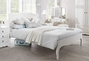 Romance Double Bed 4ft6 Stunning White Double Bed Frame With Curved