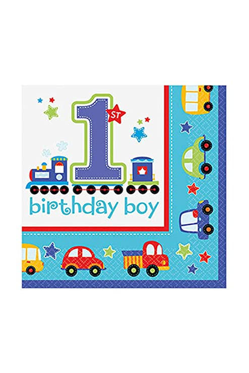 amscan Servilletas para Primer cumpleaños: Amazon.es: Hogar