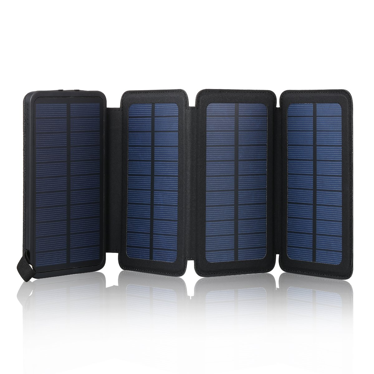 reputable site 35502 1deb1 Galleon - FLOUREON 10,000mAh Solar Charger Power Bank With 1+3PCS ...