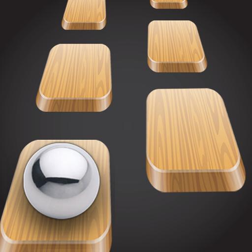Wood Tiles Hop - Ball Tile
