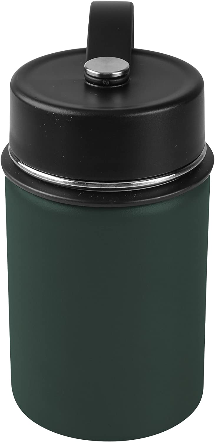 Tahoe Trails 12 oz Double Wall Vacuum Insulated Stainless Steel Water Bottle, Dark Green