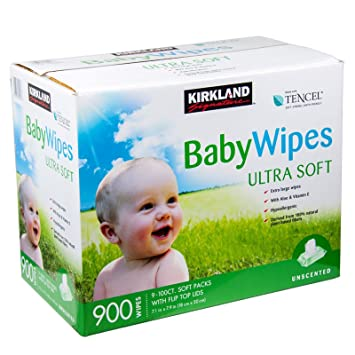 Kirkland Signature Unscented Baby Wipes Ultra Soft (9 x 100 Pack): Amazon.es: Electrónica