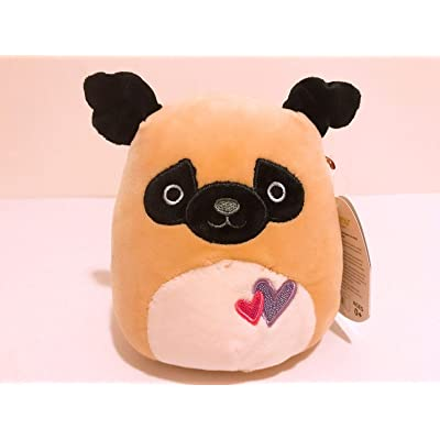 """Kellytoy 5\"""" Squishmallow Valentine\'s Day Plush Doll Pillow Pam The Pug: Toys & Games [5Bkhe0614214]"""