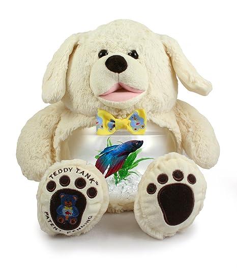 Amazoncom Teddy Tank White Dog Betta Fish Tank 8 Piece Premium