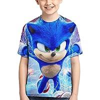 HOCLOCE Boys' 3D Sonic-The Hedgehog T-Shirt Short Sleeve Anime Cartoon Tee Shirt