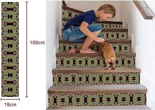 Pegatinas para escaleras Serria®, PVC Respetuoso con el Medio Ambiente, duraderas e Impermeables, para Decorar el Dormitorio, la cafetería, el Restaurante, 18 x 100 cm, Niñas, b, 18x100cm: Amazon.es: Deportes y aire