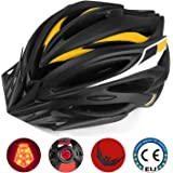 Leadfas Cycle/Bike Helmet, CE Certificado Casco de bicicleta ligero con Led Safety Light