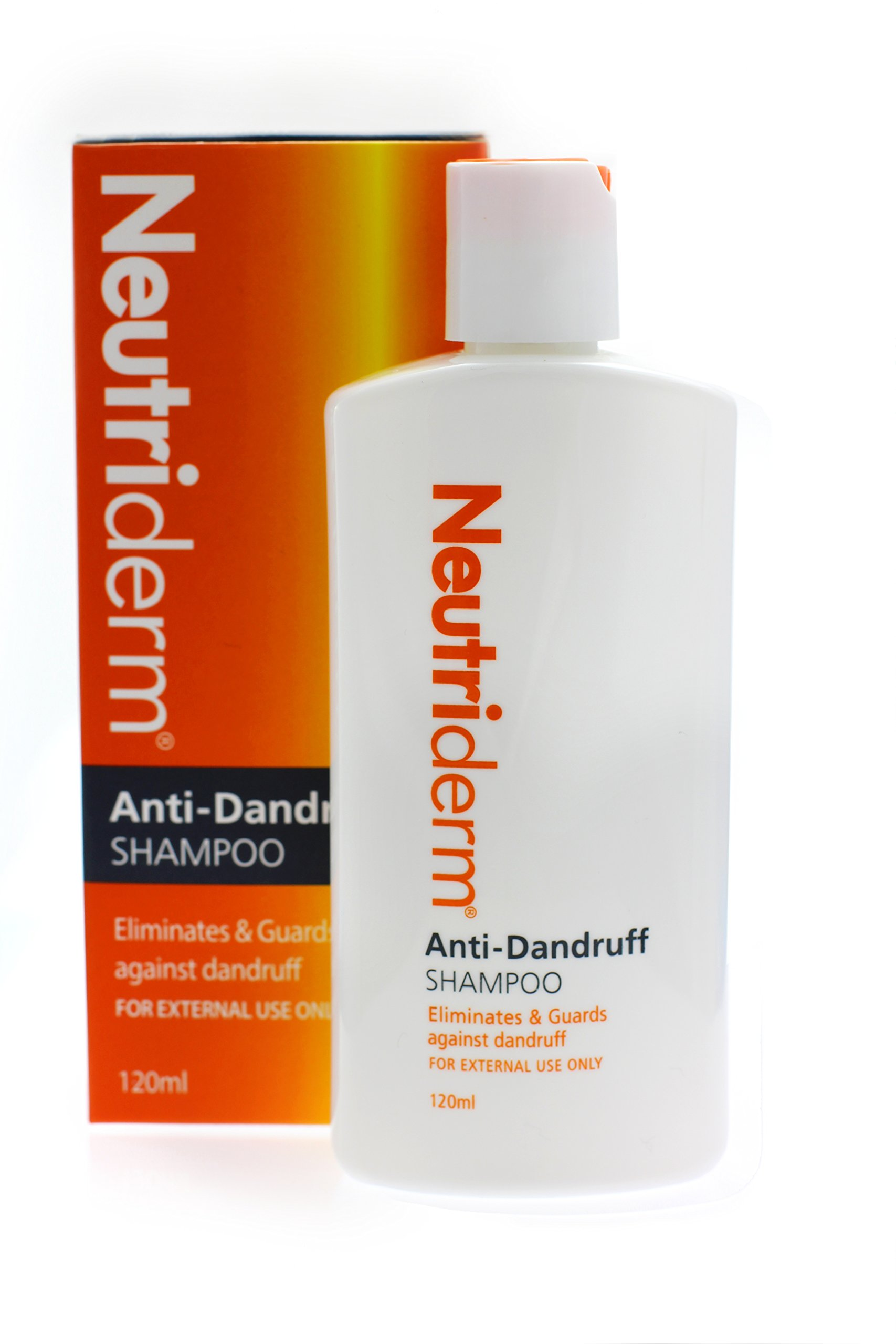 Neutriderm Anti Dandruff Shampoo - Fast-Acting, Long-Lasting Relief, Dandruff Control Treatment for Itching, Flaking and Redness, 120ml