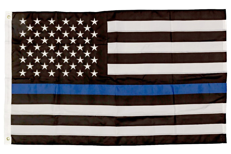 超安い 3 3 x 5 Blue Police Thin Blue x5 Lineアメリカ国旗3 ' x5 'プレミアムステッチナイロン/デカール B01NASB7PO, Deli Fru:89963b8c --- portfolio.studioalex.nl