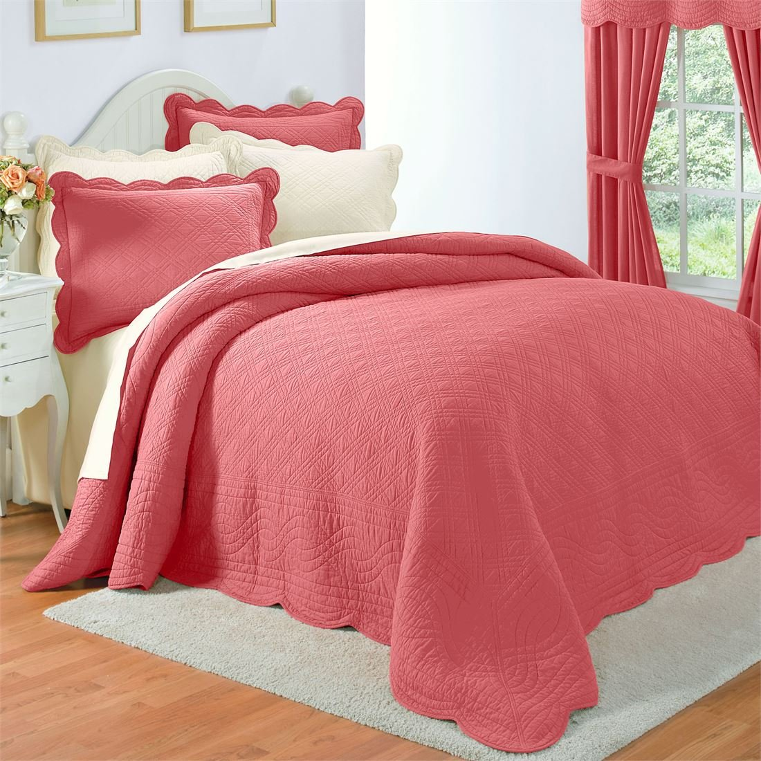 Brylanehome Florence Bedspread (Dusty Rose,King