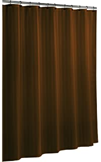 brown waffle shower curtain. Ex Cell Home Fashions By Appointment Woven Stripe Damask Fabric Shower  Curtain Liner Chocolate Amazon com Carnation Waffle Weave