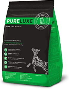 PURELUXE Grain Free Healthy Activity Dog Food with Turkey & Salmon 400g (14oz)