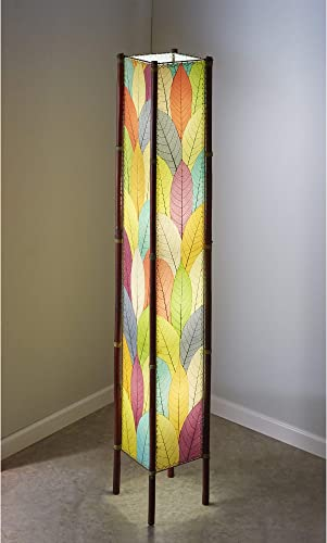 Eangee Home Design Fortune Giant Floor Lamp in Multi-colored Shade Made From Real Cocoa Leaves 395 xl m