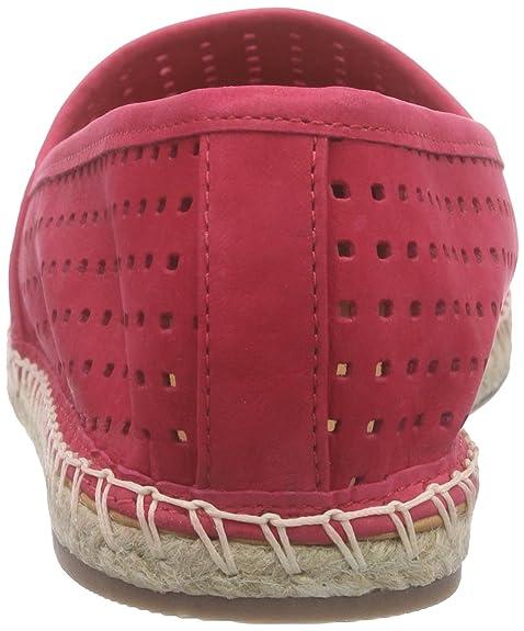 Buffalo London 125515 Nobuck - Alpargatas Mujer, Rojo - Rot (Electra 01), EU 41