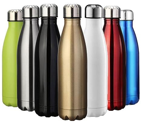 ZUSERIS Botella Aislada al Vacío de Acero Inoxidable Portátil Térmica Libre de BPA, para Ejercicio Excursión Viajar Alpinismo Camping Deportes - ...