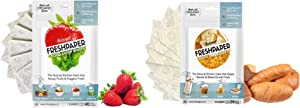 THE FRESHGLOW Co FRESHPAPER Food Saver Sheets for Produce and Bread Bundle, 16 Reusable Sheets (2 Packs), Keeps Fruits & Vegetables, and Baked Goods Fresh for 2-4x Longer