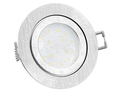 IP44 Bad LED Einbauleuchte flach (30mm) & dimmbar für 230V ohne ...