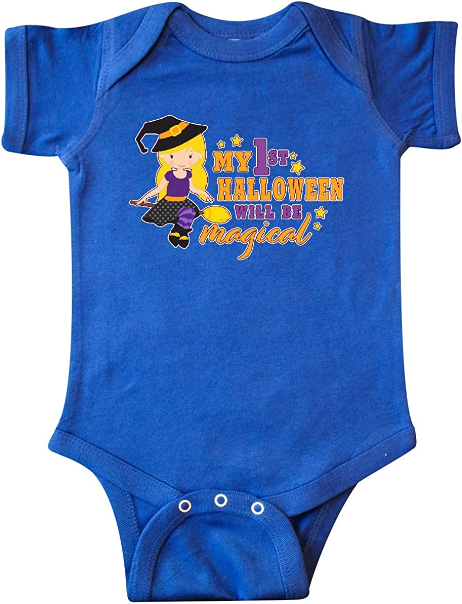 inktastic My 1st Halloween Will Be Magical with Blonde Witch on Infant Creeper