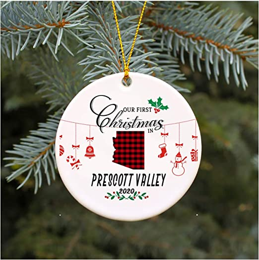 Amazon.com: Christmas Tree Ornament 2020 Our First Christmas In