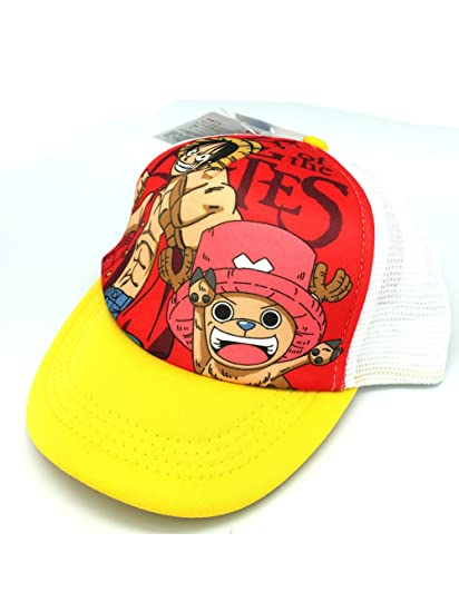 b66e9b5fb7a Amazon.com  Anime One Piece Pirates Luffy and Tony Trucker Hat - One ...