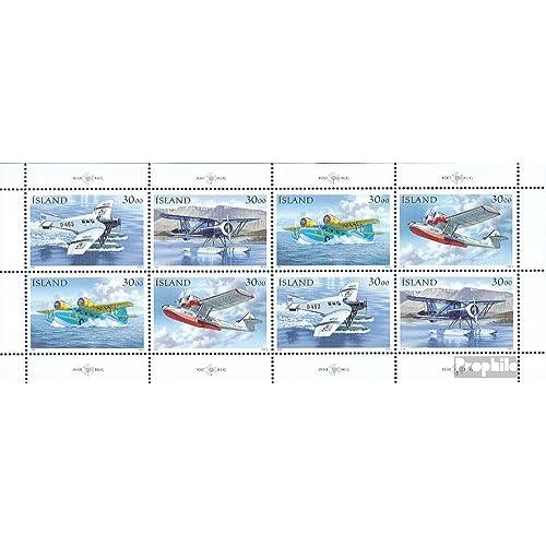 Islande 791-794Klb Feuille miniature (complète.Edition.) 1993 post avions (Timbres pour les collectionneurs)