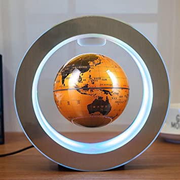 Globe Terrestre Magnétique Créatif Globe Terrestre Lumineux Flottant LED  Lévitation O Forme Base Rotation High Tech 85d17bbb9777