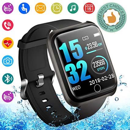 Smart Watch,Fitness Watch Activity Tracker with Heart Rate Monitor IP67 Waterproof Smartwatch Andriod Sport Wrist Watch Wristband Fitness Tracker for ...