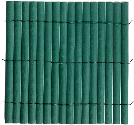 Cañizo simple de ocultación, de PVC, color verde, 1, 5 x 5 m, valla para jardín, 2012697: Amazon.es: Jardín