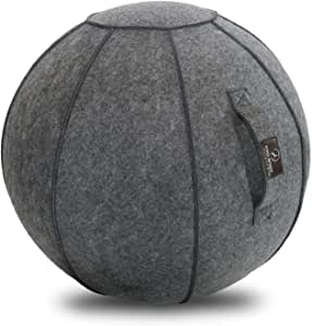 ProBody Pilates Sitting Ball Chair with Handle for Home, Office, Pilates, Yoga, Stability and Fitness - Includes Exercise Ball with Pump