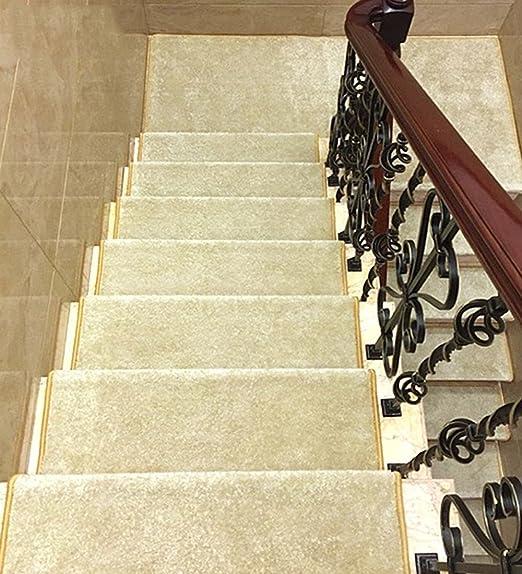 Alfombra de velcro para peldaños de escalera (juego de 5) para escaleras de cemento/hierro, 7 colores: Amazon.es: Hogar