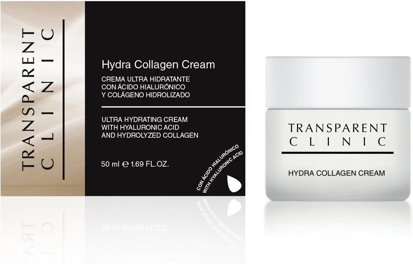 Transparent Clinic - Crema ultra hidratante - con ácido hialurónico y colágeno hidrolizado - 50 ml: Amazon.es: Belleza