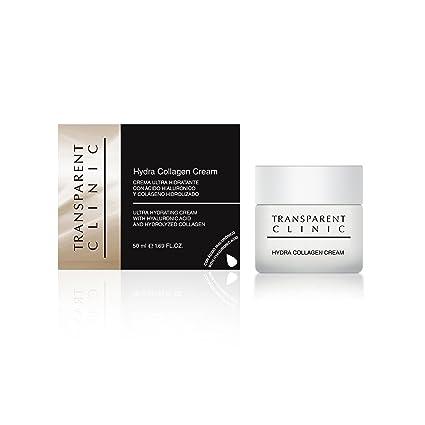Transparent Clinic - Crema ultra hidratante - con ácido hialurónico y colágeno hidrolizado - 50 ml