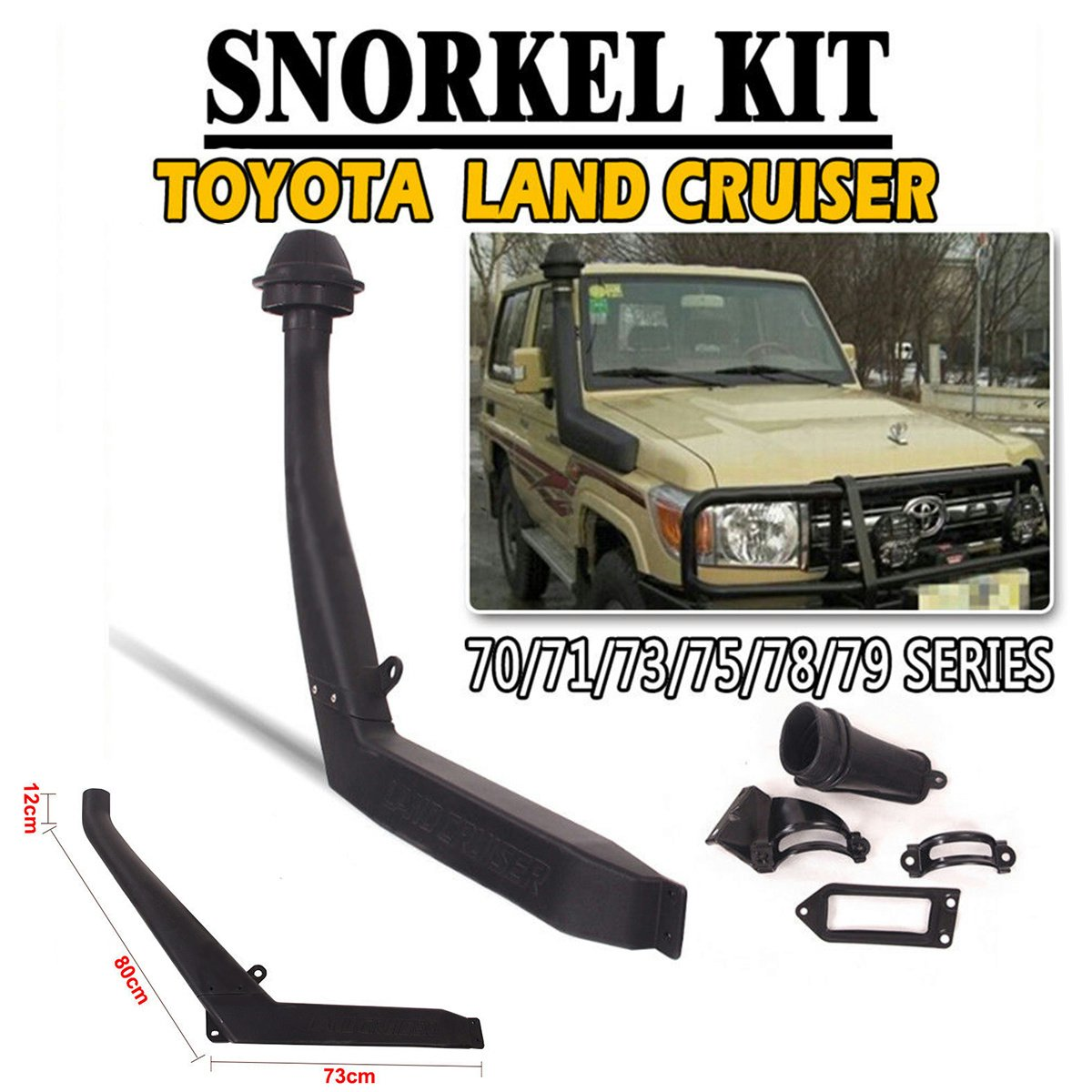 For Toyota Land Cruiser Air Snorkel Kit Off Road 70 71 1973 Original 73 75 78 79 Series 85 07 Automotive
