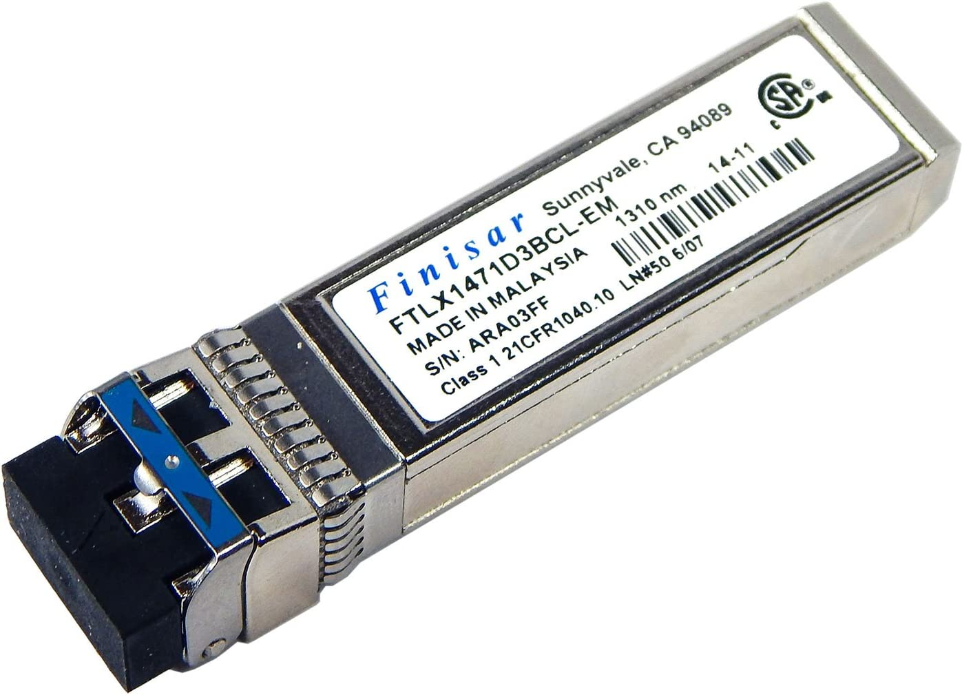 Amazon Com Finisar 10gb Lr 1310 Nm Sfp Ftlx1471d3bcl Em Pull Computers Accessories