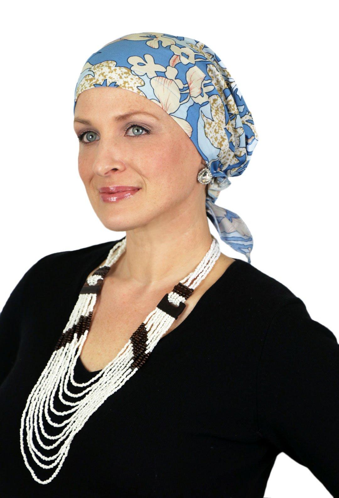 Celeste Chemo Scarves Head Scarf Cancer Headwear For Women Short Ties (335 Aloha)